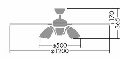 DP-38028E + DP-37974 LED 電球色 6灯 DAIKO(ダイコー)製シーリングファンライト