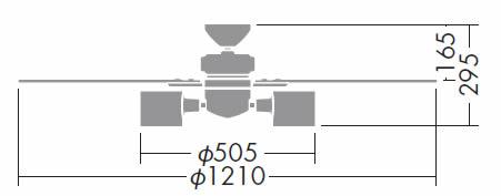 DCH-36595L DAIKO(ダイコー)製シーリングファンライト【生産終了品】