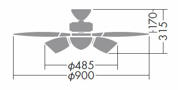 DCH-36833L DAIKO(ダイコー)製シーリングファンライト【生産終了品】