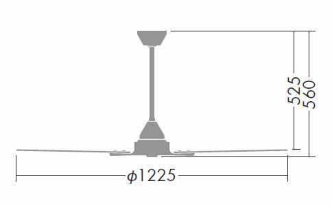 DP-38025 + DP-37650 DAIKO(ダイコー)製シーリングファン【生産終了品】