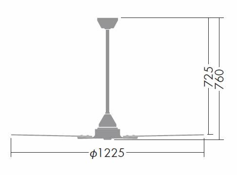 DP-38025 + DP-37651 DAIKO(ダイコー)製シーリングファン【生産終了品】