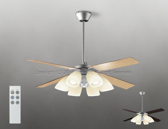 DP-38029E + DP-37977 + DP-37589 傾斜対応 LED 電球色 6灯 DAIKO(ダイコー)製シーリングファンライト