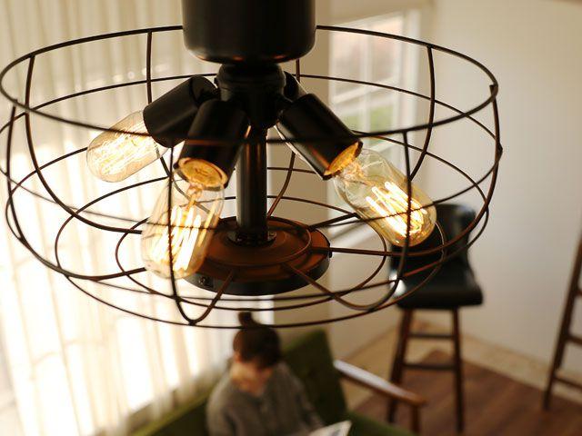 JE-CF002V,JAVALO ELF VINTAGE(ヴィンテージ)Collection  電球色 4灯 軽量 HANWA(阪和)ハンワ製シーリングファンライト