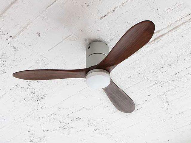 JE-CF004M SV,JAVALO ELF Modern Collection REAL wood blades  大風量 LED 調光 昼白色 1灯 薄型 軽量 HANWA(阪和)ハンワ製シーリングファンライト