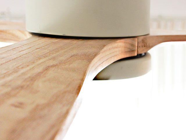 JE-CF004M WH,JAVALO ELF Modern Collection REAL wood blades  大風量 LED 調光 昼白色 1灯 薄型 軽量 HANWA(阪和)ハンワ製シーリングファンライト