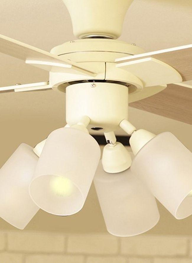 JE-CF014WH + LED133WW / LED133CWF,JAVALO ELF Modern Collection LED 電球色/昼白色 4灯 軽量 HANWA(阪和)ハンワ製シーリングファンライト