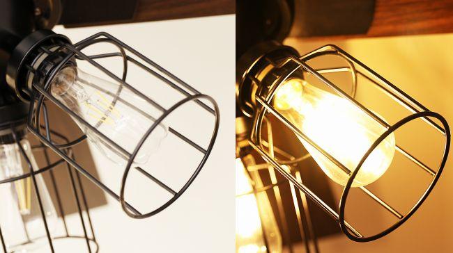 JE-CF003-BK,JAVALO ELF Modern Collection フィラメントLED  LED 電球色 4灯 軽量 HANWA(阪和)ハンワ製シーリングファンライト