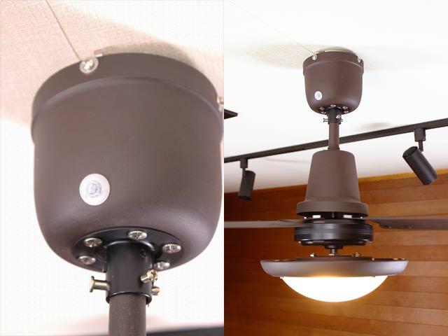 L-0030-BZ + LED133WW / LED133CWF,TRISLANDER(トライスランダー) LED 電球色/昼白色 2灯 軽量 HERMOSA(ハモサ)製シーリングファンライト
