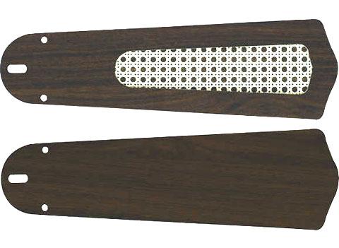 AM40384E + AE40392E,羽根デザイン(ラタン柄) 大風量 傾斜対応 軽量 KOIZUMI(コイズミ)製シーリングファン