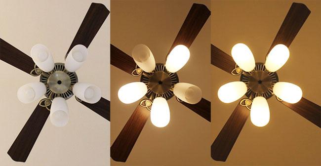 AM40383E + AA43196L / AA43196L(N) 大風量 LED 電球色/昼白色 5灯 KOIZUMI(コイズミ)製シーリングファンライト