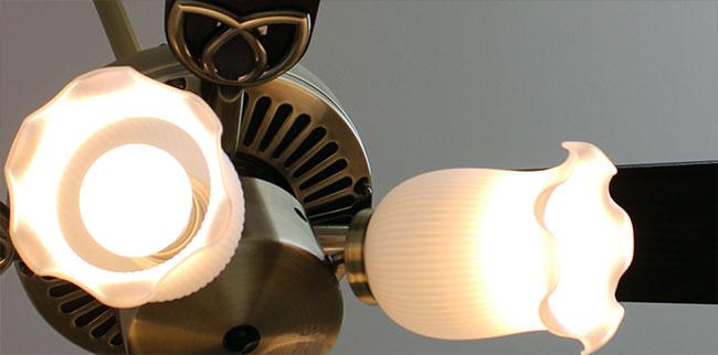 AM40383E + AA41903L / AA41903L(N) 大風量 LED 電球色/昼白色 6灯 KOIZUMI(コイズミ)製シーリングファンライト