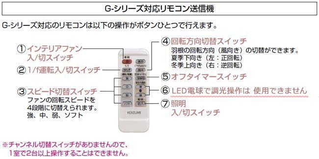 F49KE0102- コイズミ製シーリングファン オプション オプション単体