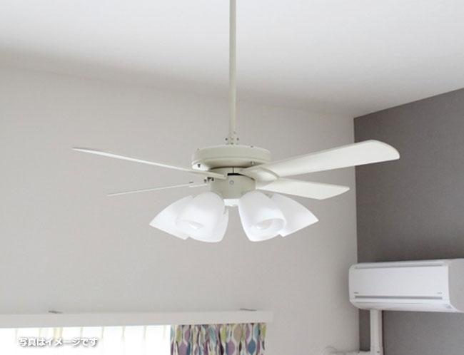 AEE695071 + AA41897L / AA41897L(N) + AEE590057 傾斜対応 LED 電球色/昼白色 6灯 KOIZUMI(コイズミ)製シーリングファンライト
