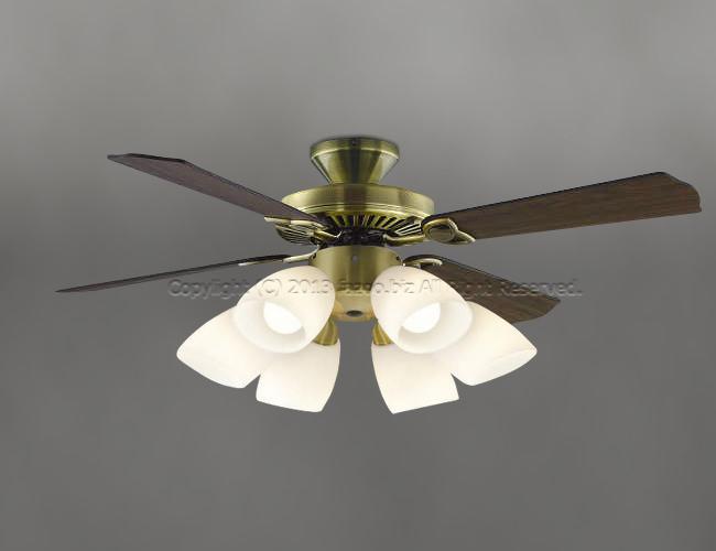 AM40383E + AA41901L / AA41901L(N) 大風量 LED 電球色/昼白色 6灯 KOIZUMI(コイズミ)製シーリングファンライト