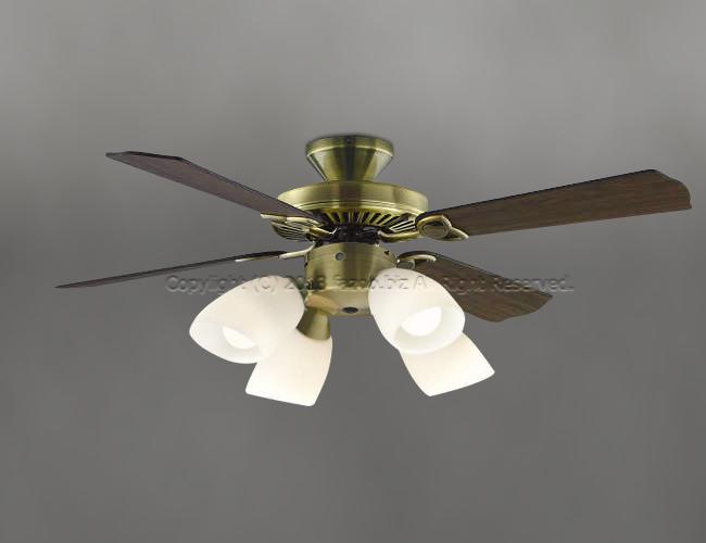 AM40383E + AA43197L / AA43197L(N) 大風量 LED 電球色/昼白色 4灯 KOIZUMI(コイズミ)製シーリングファンライト