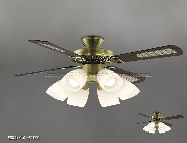 AM40383E + AA41901L / AA41901L(N) + AE40392E,羽根デザイン(ラタン柄) 大風量 LED 電球色/昼白色 6灯 KOIZUMI(コイズミ)製シーリングファンライト