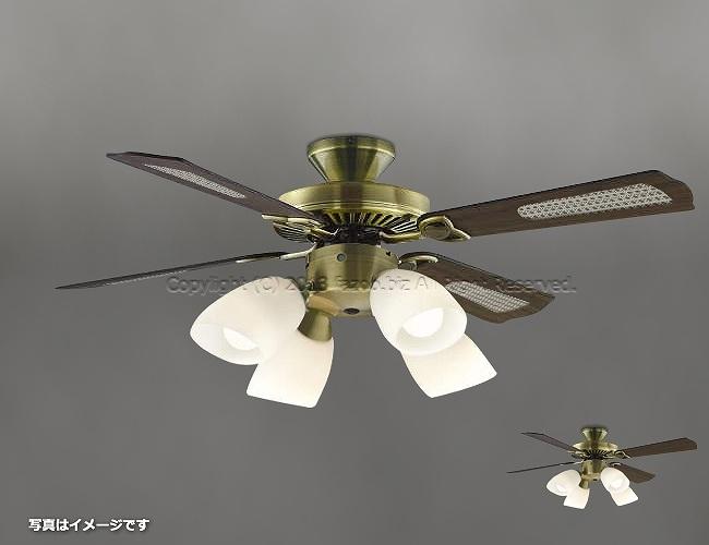 AM40383E + AA43197L / AA43197L(N) + AE40392E,羽根デザイン(ラタン柄) 大風量 LED 電球色/昼白色 4灯 KOIZUMI(コイズミ)製シーリングファンライト