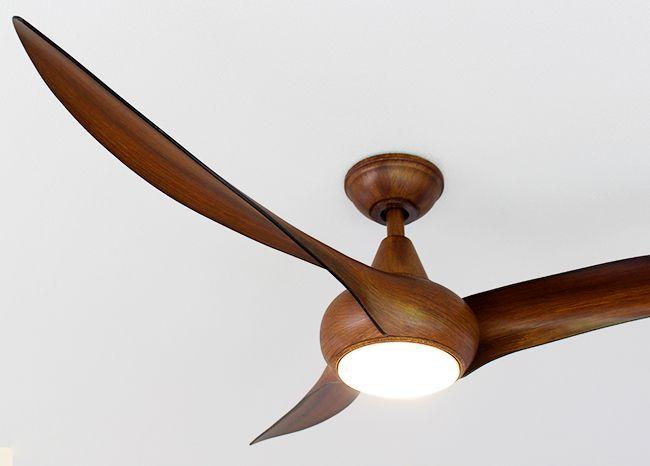 F844-DK,LightWave 木目 ハワイ輸入ファン 大風量 傾斜対応 LED 調光 電球色 1灯 軽量 MinkaAire(ミンカエアー)製シーリングファンライト