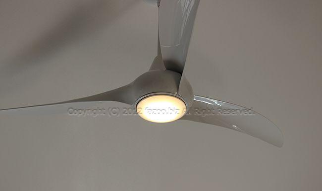 F844-WH + DR524-WH + A245-WH,LightWave ホワイト  大風量 傾斜対応 LED 調光 電球色 1灯 MinkaAire(ミンカエアー)製シーリングファンライト