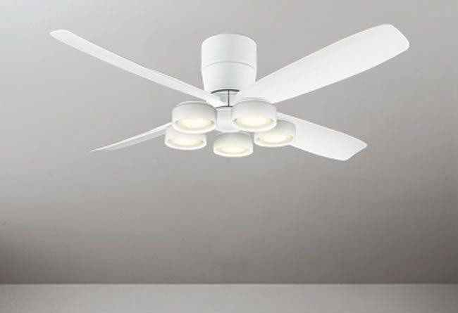 WF812 + WF822LD / WF822ND 大風量 LED 電球色/昼白色 5灯 薄型 軽量 ODELIC(オーデリック)製シーリングファンライト