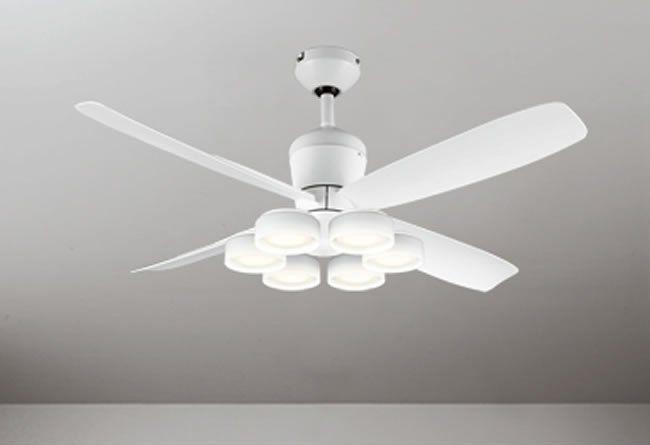WF813 + WF823LD / WF823ND 大風量 LED 電球色/昼白色 6灯 軽量 ODELIC(オーデリック)製シーリングファンライト