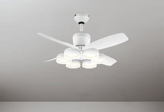 WF811 + WF823LD / WF823ND 大風量 LED 電球色/昼白色 6灯 軽量 ODELIC(オーデリック)製シーリングファンライト