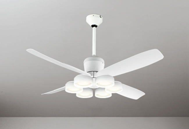 WF813 + WF823LD / WF823ND + WF731 大風量 傾斜対応 LED 電球色/昼白色 6灯 軽量 ODELIC(オーデリック)製シーリングファンライト