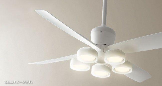WF813 + WF822LD / WF822ND 大風量 LED 電球色/昼白色 5灯 軽量 ODELIC(オーデリック)製シーリングファンライト