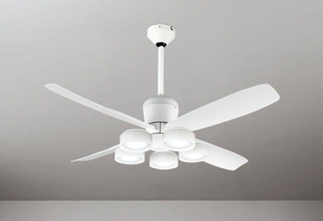 WF813 + WF822LD / WF822ND + WF731 大風量 傾斜対応 LED 電球色/昼白色 5灯 軽量 ODELIC(オーデリック)製シーリングファンライト