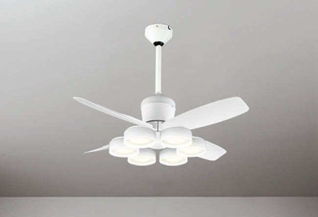 WF811 + WF823LD / WF823ND + WF731 大風量 傾斜対応 LED 電球色/昼白色 6灯 軽量 ODELIC(オーデリック)製シーリングファンライト