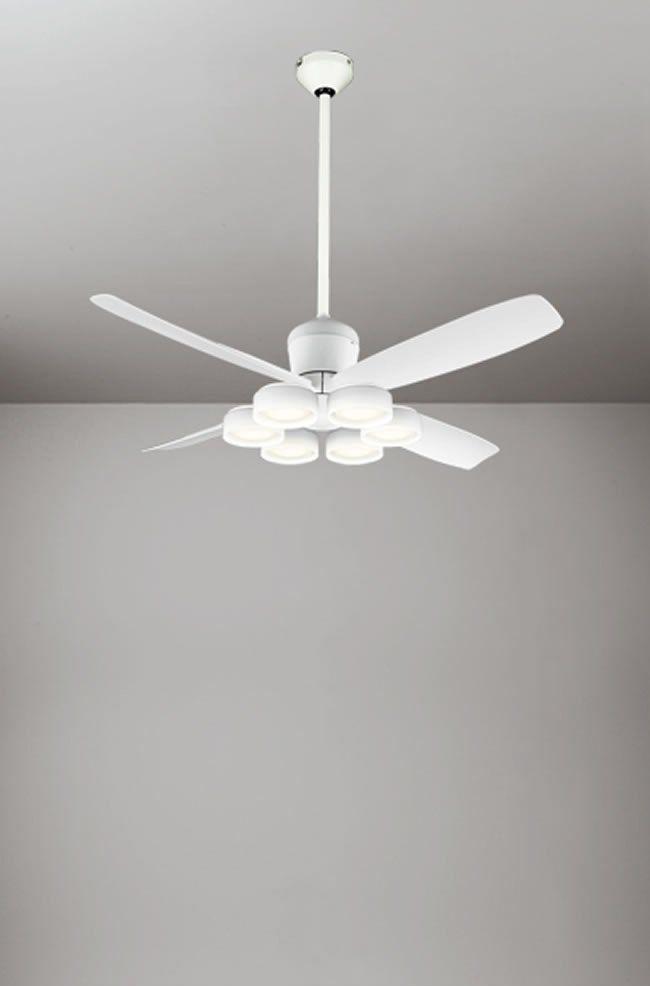 WF813 + WF823LD / WF823ND + WF732 大風量 傾斜対応 LED 電球色/昼白色 6灯 ODELIC(オーデリック)製シーリングファンライト