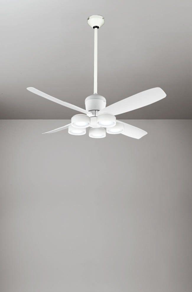 WF813 + WF822LD / WF822ND + WF732 大風量 傾斜対応 LED 電球色/昼白色 5灯 ODELIC(オーデリック)製シーリングファンライト
