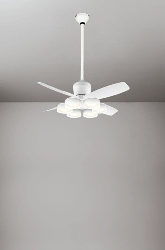 WF811 + WF823LD / WF823ND + WF732 大風量 傾斜対応 LED 電球色/昼白色 6灯 ODELIC(オーデリック)製シーリングファンライト
