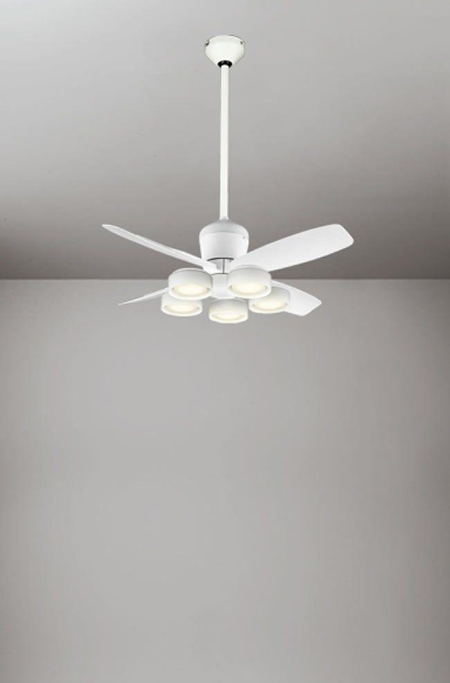 WF811 + WF822LD / WF822ND + WF732 大風量 傾斜対応 LED 電球色/昼白色 5灯 軽量 ODELIC(オーデリック)製シーリングファンライト