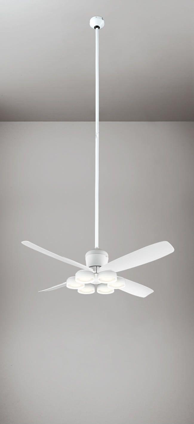 WF813 + WF823LD / WF823ND + WF735 大風量 傾斜対応 LED 電球色/昼白色 6灯 ODELIC(オーデリック)製シーリングファンライト