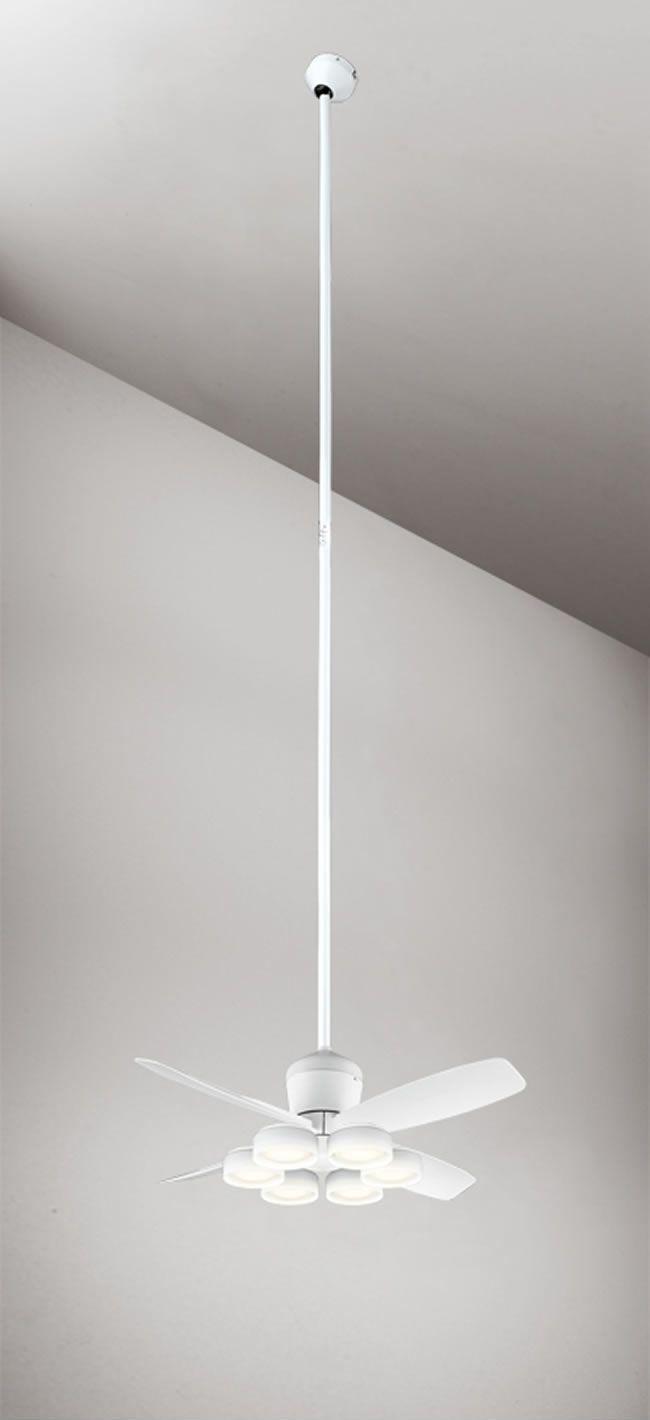 WF811 + WF823LD / WF823ND + WF736 大風量 傾斜対応 LED 電球色/昼白色 6灯 ODELIC(オーデリック)製シーリングファンライト