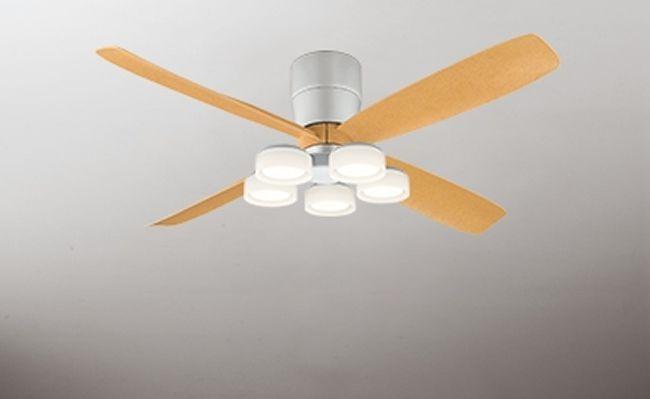 WF061(060#+911#) + WF065LD / WF065ND 大風量 LED 電球色/昼白色 5灯 薄型 軽量 ODELIC(オーデリック)製シーリングファンライト