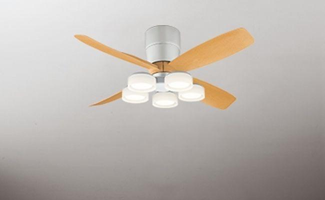 WF071(070#+921#) + WF065LD / WF065ND 大風量 LED 電球色/昼白色 5灯 薄型 軽量 ODELIC(オーデリック)製シーリングファンライト