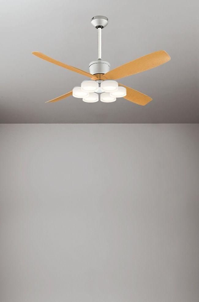 WF081(080#+911#) + WF066LD / WF066ND + WF611 大風量 傾斜対応 LED 電球色/昼白色 6灯 軽量 ODELIC(オーデリック)製シーリングファンライト