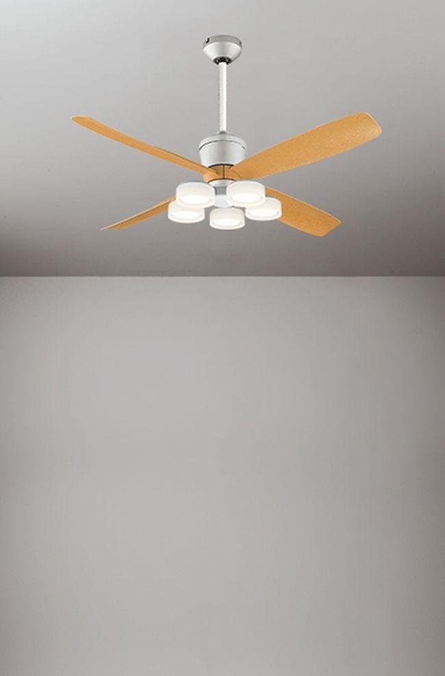 WF081(080#+911#) + WF065LD / WF065ND + WF611 大風量 傾斜対応 LED 電球色/昼白色 5灯 軽量 ODELIC(オーデリック)製シーリングファンライト