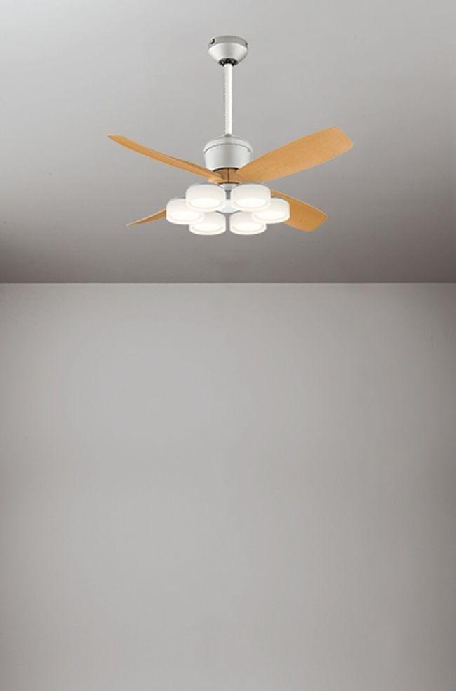 WF091(090#+921#) + WF066LD / WF066ND + WF611 大風量 傾斜対応 LED 電球色/昼白色 6灯 軽量 ODELIC(オーデリック)製シーリングファンライト