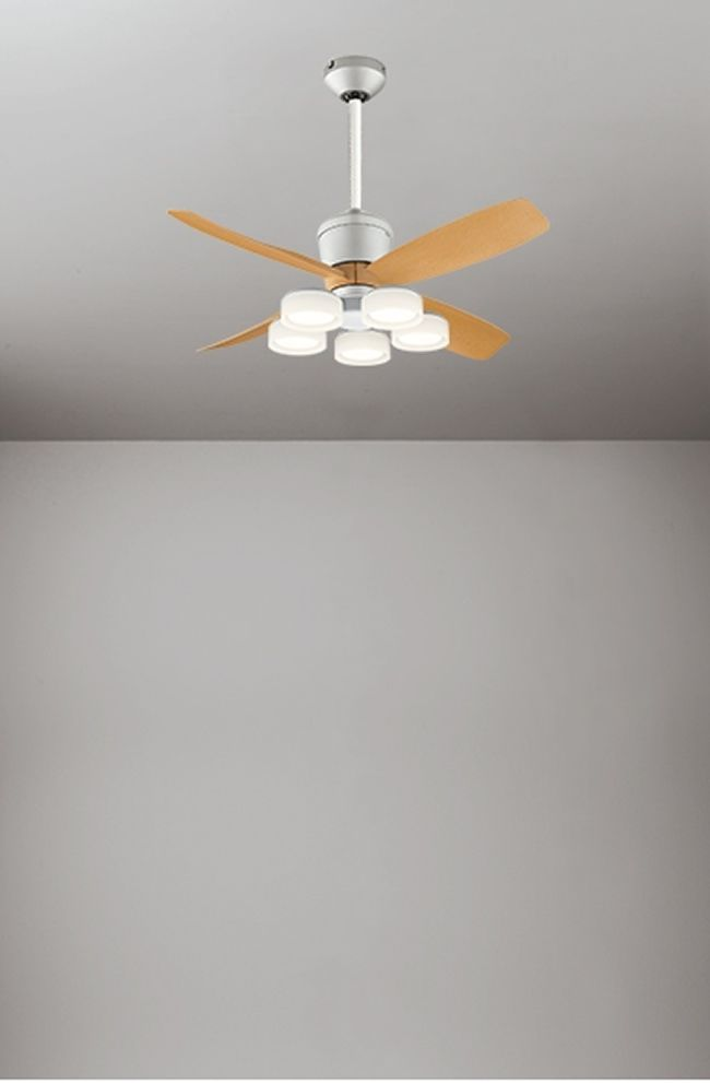 WF091(090#+921#) + WF065LD / WF065ND + WF611 大風量 傾斜対応 LED 電球色/昼白色 5灯 軽量 ODELIC(オーデリック)製シーリングファンライト