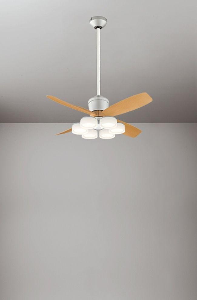 WF091(090#+921#) + WF066LD / WF066ND + WF612 大風量 傾斜対応 LED 電球色/昼白色 6灯 ODELIC(オーデリック)製シーリングファンライト