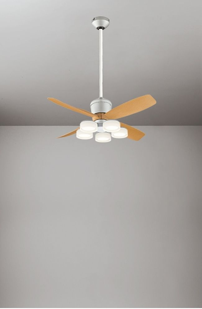 WF091(090#+921#) + WF065LD / WF065ND + WF612 大風量 傾斜対応 LED 電球色/昼白色 5灯 軽量 ODELIC(オーデリック)製シーリングファンライト