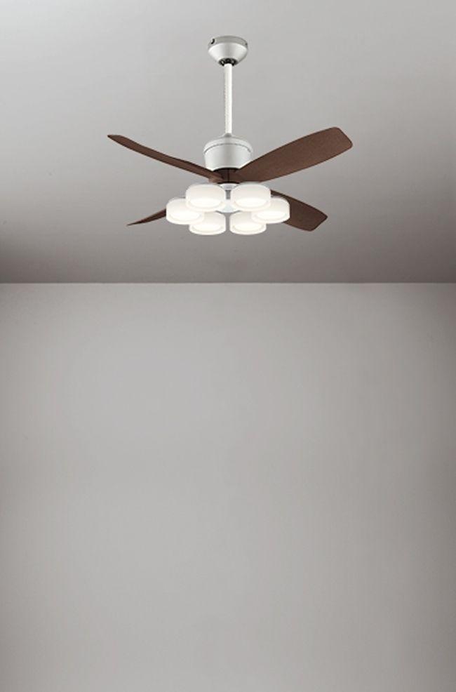WF090(090#+920#) + WF066LD / WF066ND + WF611 大風量 傾斜対応 LED 電球色/昼白色 6灯 軽量 ODELIC(オーデリック)製シーリングファンライト