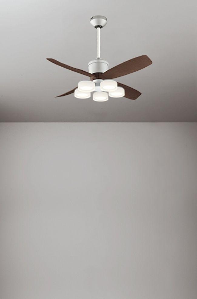 WF090(090#+920#) + WF065LD / WF065ND + WF611 大風量 傾斜対応 LED 電球色/昼白色 5灯 軽量 ODELIC(オーデリック)製シーリングファンライト