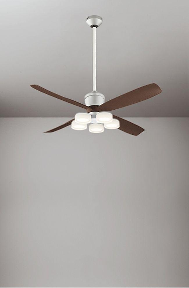 WF080(080#+910#) + WF065LD / WF065ND + WF612 大風量 傾斜対応 LED 電球色/昼白色 5灯 ODELIC(オーデリック)製シーリングファンライト