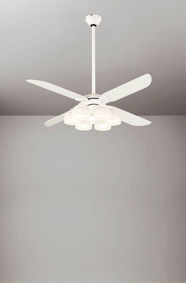 WF801P1 + WF266PC + WF976 傾斜対応 LED 調光調色(電球色-昼白色) 6灯 ODELIC(オーデリック)製シーリングファンライト