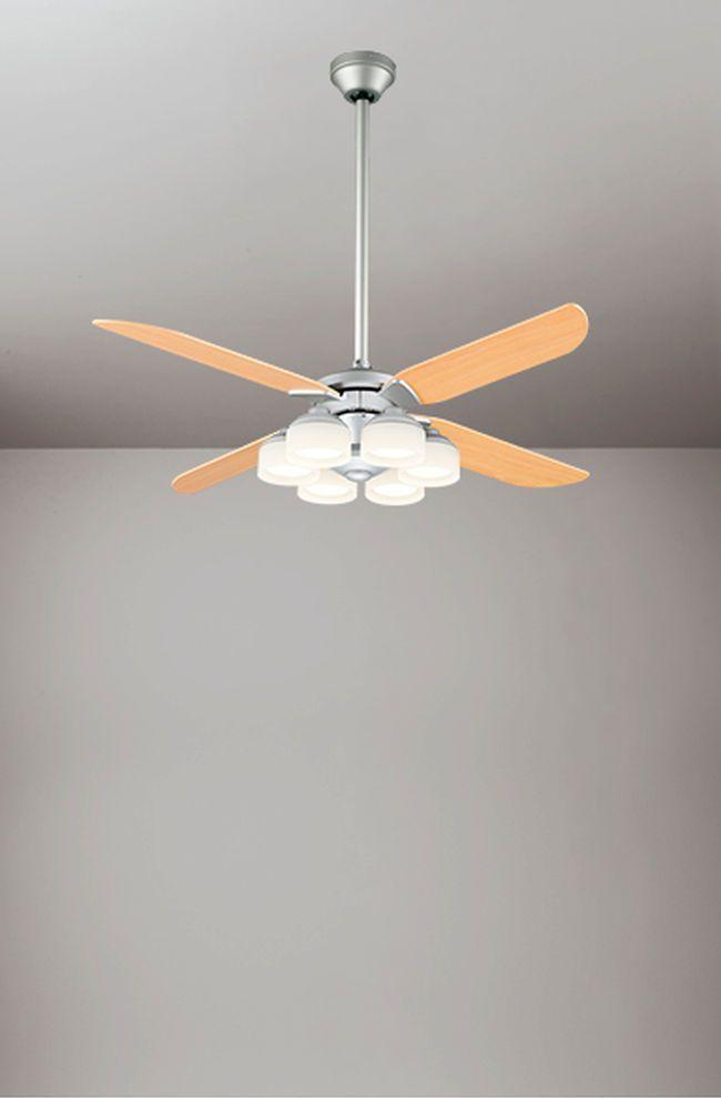 WF803P1 + WF276PC + WF986 傾斜対応 LED 調光調色(電球色-昼白色) 6灯 ODELIC(オーデリック)製シーリングファンライト