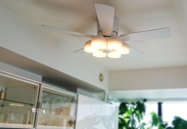 WF208PC LED 調光調色(電球色-昼白色) 6灯 薄型 ODELIC(オーデリック)製シーリングファンライト